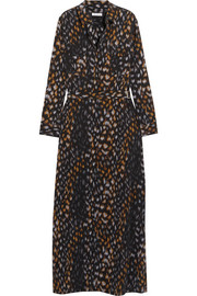 Equipment Major leopard-print washed-silk maxi dress