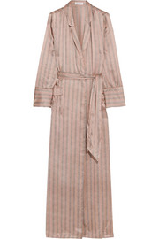 Equipment Florian striped silk-satin robe