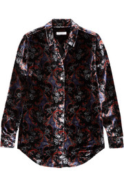 Equipment Essential printed velvet shirt