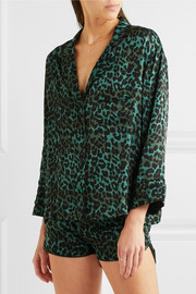 Jude XL and Audrey H leopard-print satin pajama set