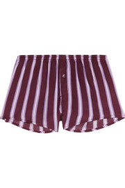 Sunday striped satin pajama shorts