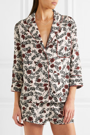 Jude and Edie floral-print satin pajama set