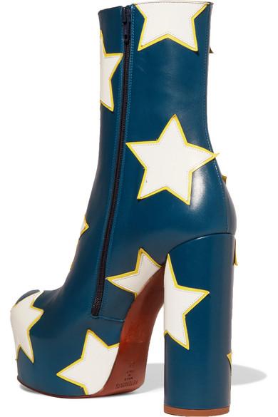1da6aebd445d3 Vetements | Appliquéd leather platform ankle boots | NET-A-PORTER.COM