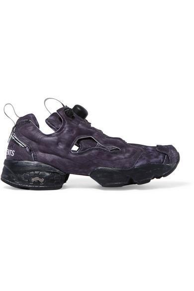 74ce11a7da2 Vetements. + Reebok InstaPump Fury OG logo-print neoprene and mesh sneakers