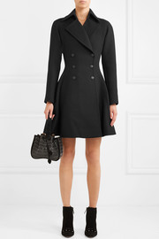 Alaïa Double-breasted wool-crepe coat