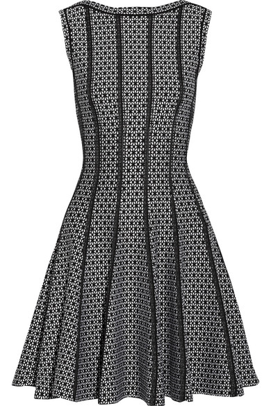 Alaïa Delphinium Midi Dress In Jacquard Knitting