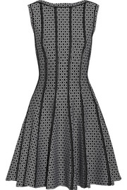 Alaïa Delphinium jacquard-knit mini dress