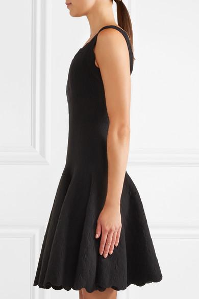 Alaïa Minikleid aus Jacquard-Strick aus einer Wollmischung