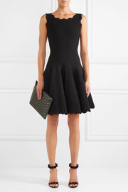 Jacquard-knit wool-blend mini dress