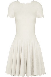 Alaïa Jacquard-knit wool-blend mini dress