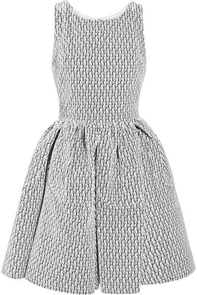 Mini Robe Brodée Alaïa En Velours