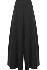 Alaïa Wool-blend cady wide-leg pants
