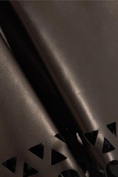 Alaïa Lasergeschnittener Minirock aus Leder