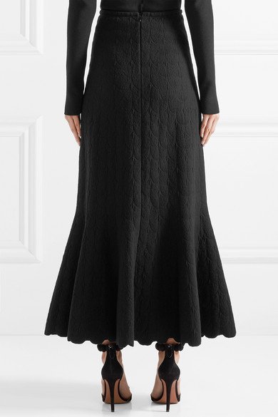 Alaïa Midirock aus Jacquard-Strick aus einer Wollmischung