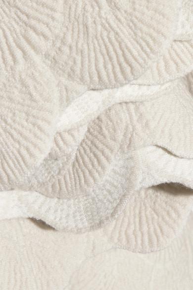 Alaïa Minirock aus Jacquard-Strick aus einer Wollmischung