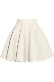 Alaïa Jacquard-knit wool-blend mini skirt