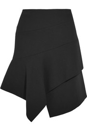 Alaïa Asymmetric wool-blend mini skirt