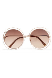 Carlina round-frame rose gold-tone sunglasses