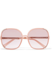 Chloé Myrte square-frame acetate and gold-tone sunglasses