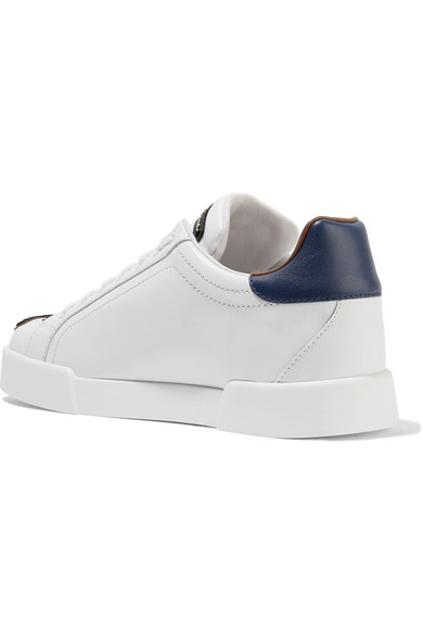 Dolce & Gabbana Sneakers aus Leder mit Logoapplikationen