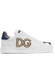 Dolce & Gabbana Appliquéd leather sneakers