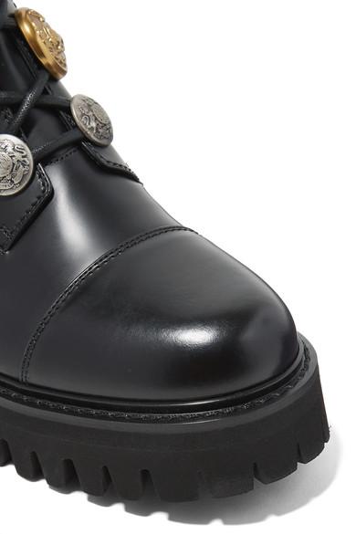 Dolce Verzierte & Gabbana | Verzierte Dolce Ankle Boots aus Glanzleder 932a34