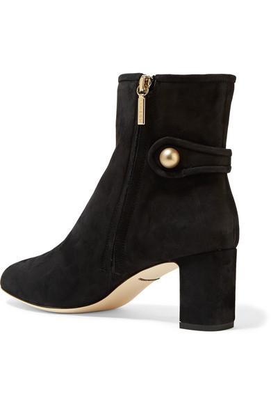 Ankle Verzierte amp; aus Dolce Veloursleder amp; Dolce Boots Gabbana HTqcaScX