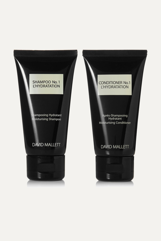 David Mallett L'Hydratation Travel Kit, 2 x 50 ml – Reiseset aus Shampoo und Conditioner