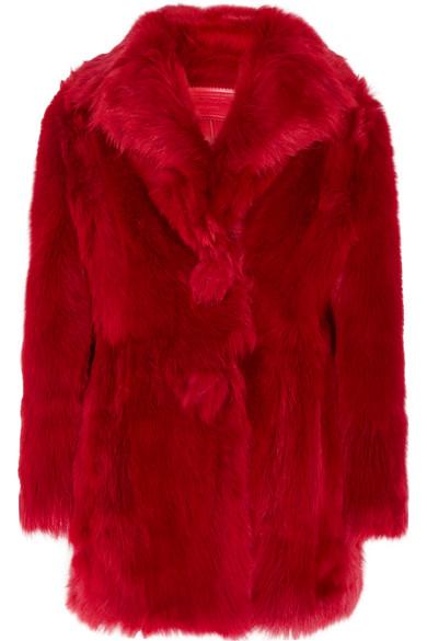 Prada - Shearling Coat - Red