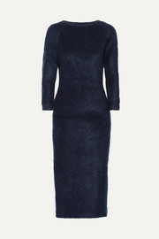 Prada Mohair-blend midi dress