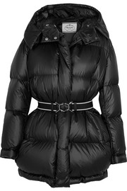 Prada Belted quilted shell coat