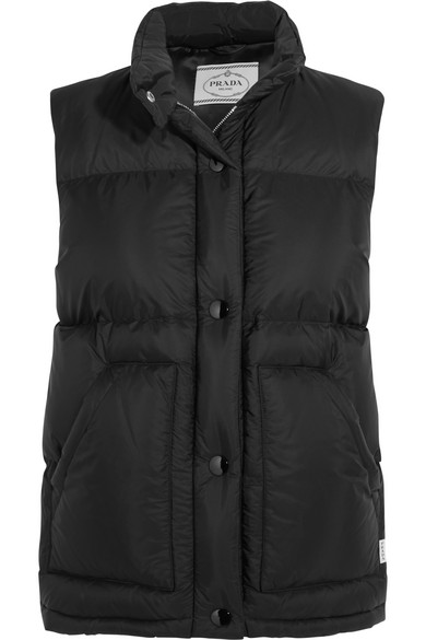 Prada - Quilted Shell Down Gilet - Black at NET-A-PORTER