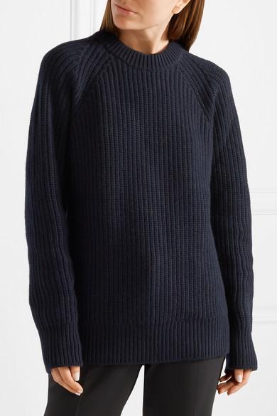 Prada Pullover aus einer gerippten Woll-Kaschmirmischung