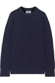 Prada Ribbed wool and cashmere-blend sweater