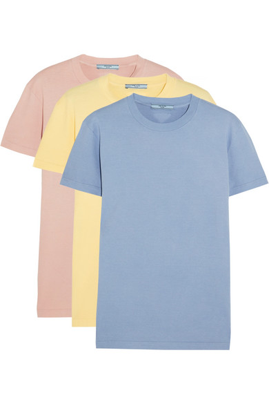 Prada - Set Of Three Cotton T-shirts - Sky blue at NET-A-PORTER