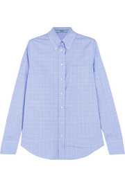 Prada Prince of Wales checked cotton-poplin shirt