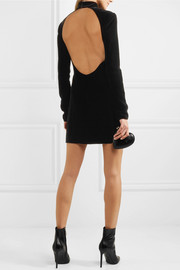 Saint Laurent Open-back velvet mini dress