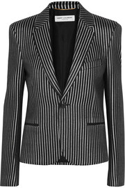 Saint Laurent Metallic striped twill blazer