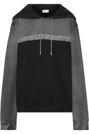 Saint Laurent Love Me Forever oversized cotton-terry hooded sweatshirt