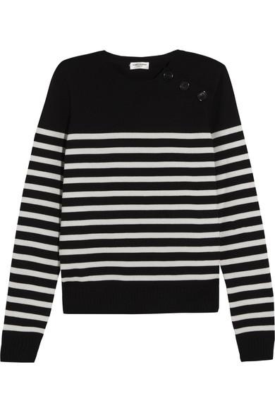 Saint Laurent Wollpullover mit Streifen