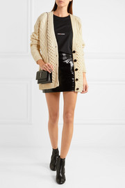 Saint Laurent Oversized chunky-knit wool cardigan