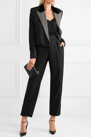 Saint Laurent Wool grain de poudre wide-leg pants