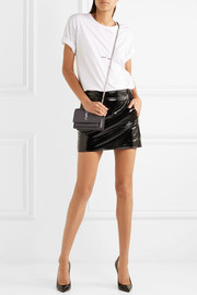Saint Laurent Patent-leather mini skirt