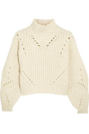 Isabel Marant Farren cropped ribbed wool-blend turtleneck sweater