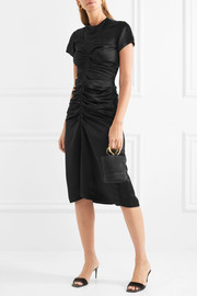 Isabel Marant Else ruched satin midi dress