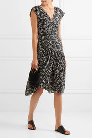 Isabel Marant Glory ruched printed silk-blend dress