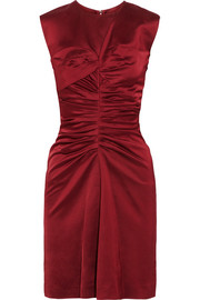 Esta ruched satin dress