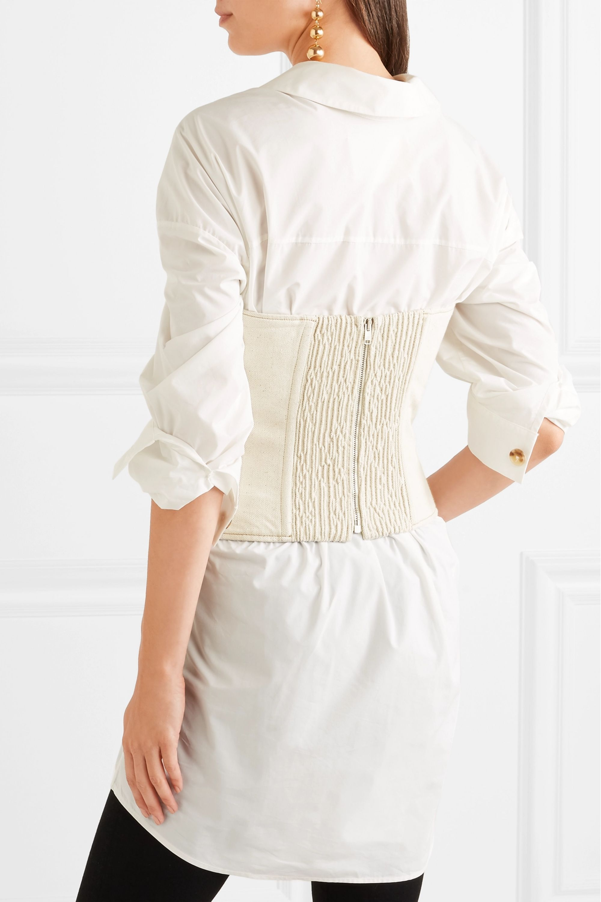 Isabel Marant Pryam lace-up cotton-blend twill corset
