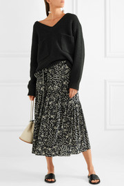 Isabel Marant Grifol printed silk-blend wrap midi skirt