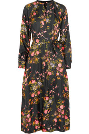 Isabel Marant Olympia floral-print silk-twill midi dress